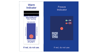 Temperature Indicators, Warm Mark, Cold Mark